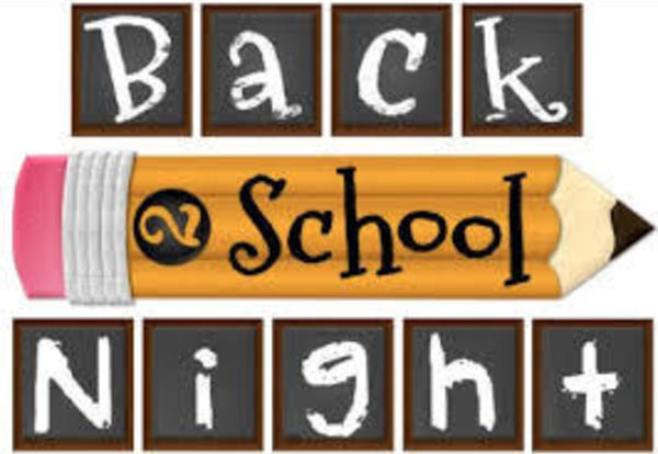 REMINDER ABOUT BACK TO SCHOOL NIGHT