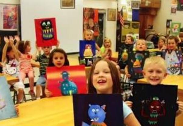 Wild Things Collaborative Project between Kindergartners and High School Students