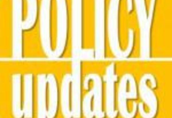Notice of Recent Policy Updates