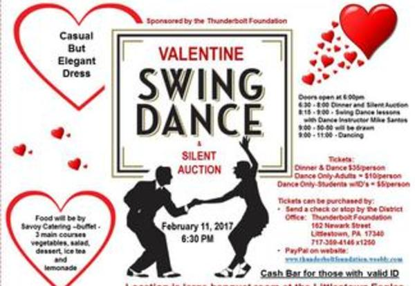 Valentine Dance and Silent Auction on February 11, 2017