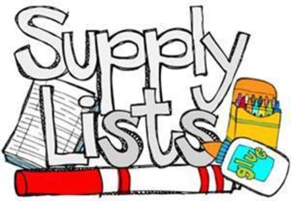 Maple Avenue School Supply List