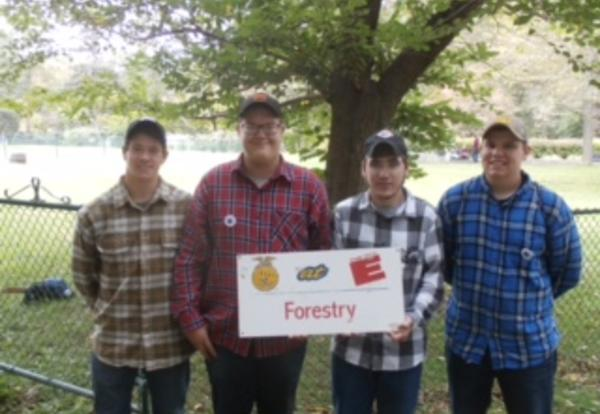 FFA Forestry Team took 2nd place at the Eastern States Exposition!