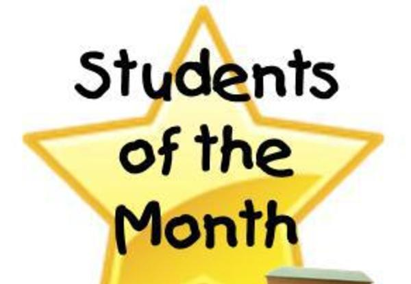 Congratulations to our September Students of the Month