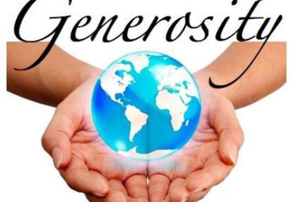 December Core Value is GENEROSITY