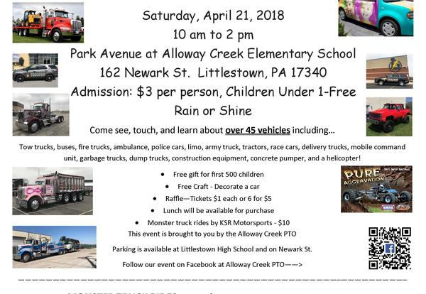 Touch A Truck is on Saturday, April 21st from 10 am - 2 pm.