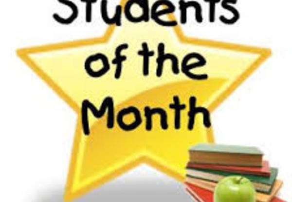 Congratulations to Students of the Month for May!