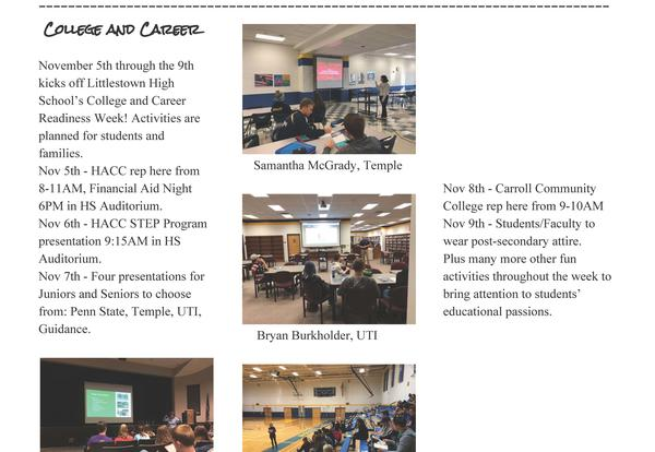 Fall 2018 Counselor Connection Newsletter