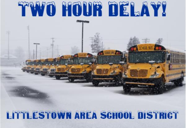 Two Hour Delay on Thursday, January 31, 2019