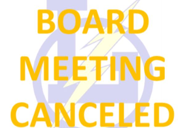 CANCELED:  Board Work Session scheduled on Monday, May 13, 2019 is CANCELED