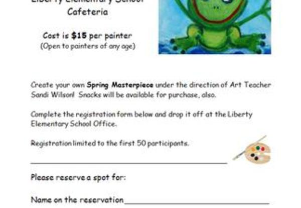 Liberty Painting Party, March 12, 2016   9:00-11:00 a.m.
