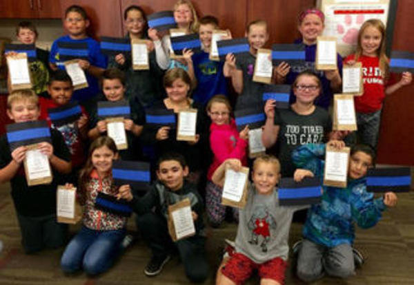 Fourth Graders Show Appreciation to OPD