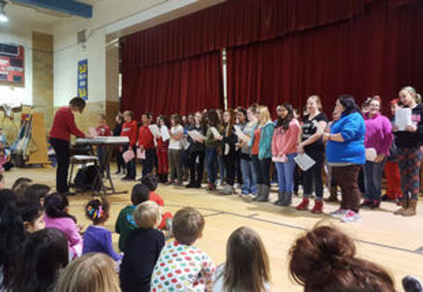 Choir Performs for Preschool