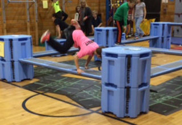 Students Use Obstacle Course for Fitness