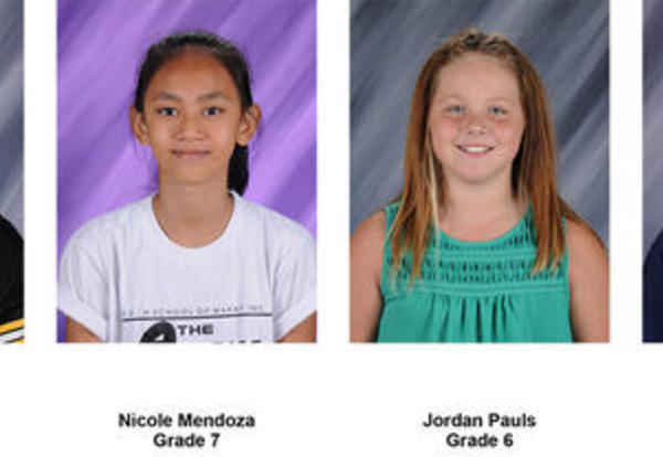 Students of the Week in January