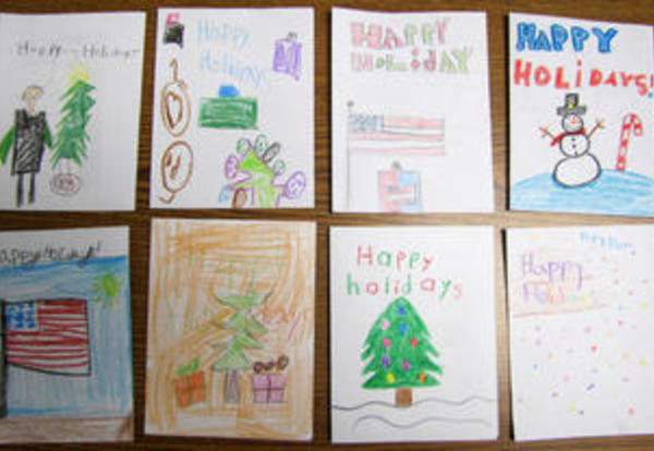 holiday cards for troops