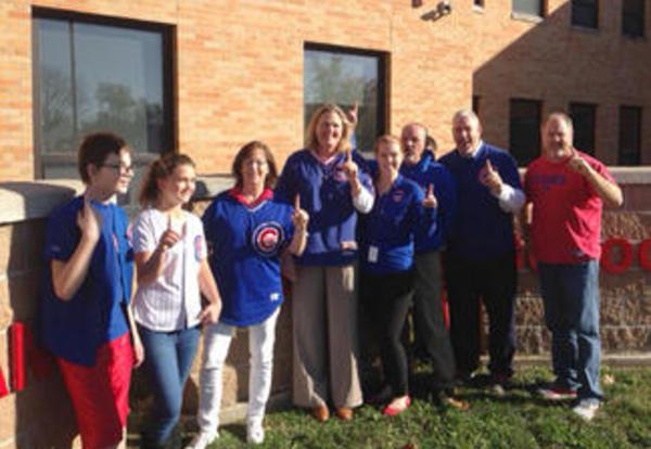 Evans Staff Show Cubs Pride