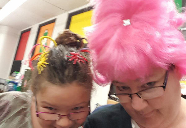 Crazy Hair Kicks off Spirit Week
