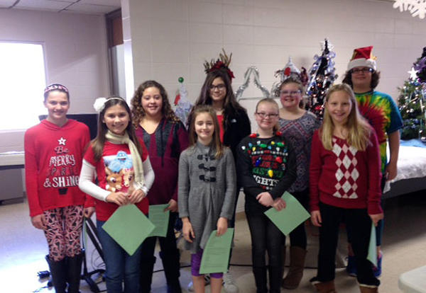 Choir Members Perform at Enchanted Forest Event