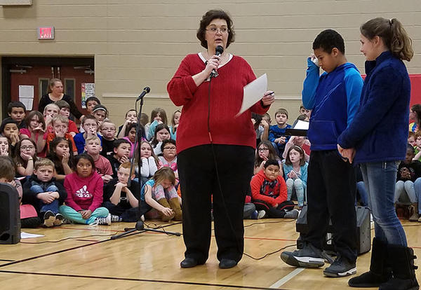 School Efforts Recognized at Assembly