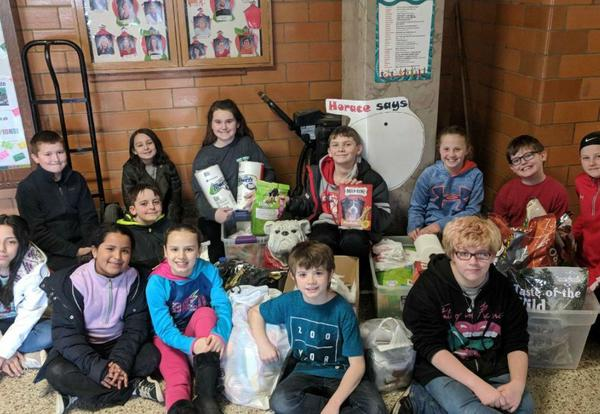 Horace Mann Heroes Deliver Donation