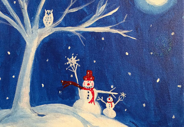 paint a winter scene about us paint a winter scene about us