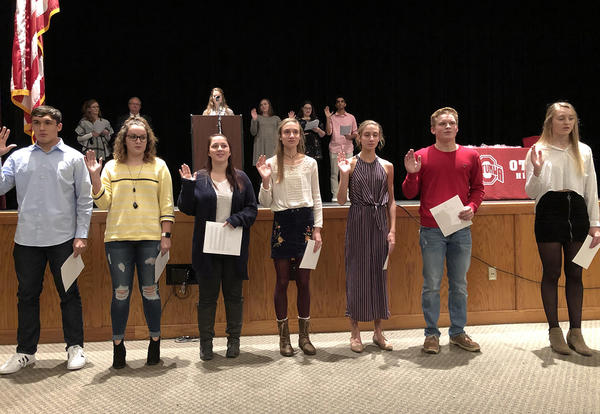 New Inductees into Torch Club
