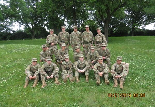JROTC group photo at Camp Dodge