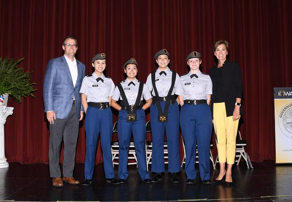 CADets with Iowa governor