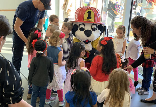 students with Sparky