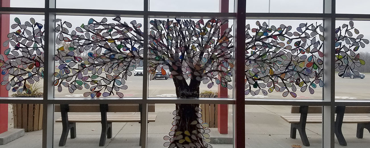 TREE Art on window