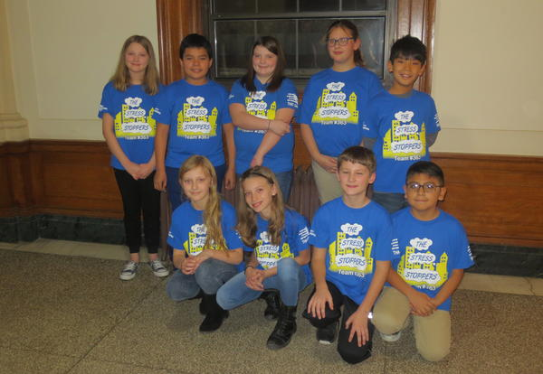 Lego League Presents to Student Council