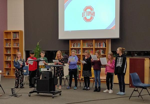 Horace Mann Heroes Present to Board of Education