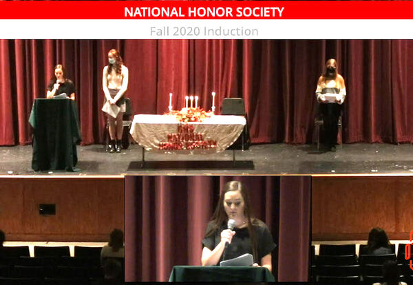 torch club inductee ceremony