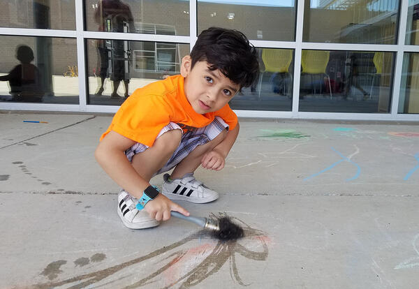 BOY paints with water